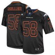 Wholesale Cheap Nike Broncos #58 Von Miller Lights Out Black Youth Stitched NFL Elite Jersey
