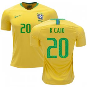 Wholesale Cheap Brazil #20 R. Caio Home Soccer Country Jersey