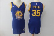 Wholesale Cheap Nike Golden State Warriors #35 Kevin Durant Blue Women Swingman Jersey