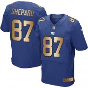 Wholesale Cheap Nike Giants #87 Sterling Shepard Royal Blue Team Color Men's Stitched NFL Elite Gold Jersey
