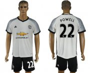 Wholesale Cheap Manchester United #22 Powell White Soccer Club Jersey