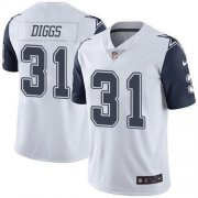 Wholesale Cheap Nike Cowboys #31 Trevon Diggs White Youth Stitched NFL Limited Rush Jersey