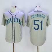 Wholesale Cheap Mariners #51 Randy Johnson Grey New Cool Base Stitched MLB Jersey