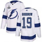 Cheap Adidas Lightning #19 Barclay Goodrow White Road Authentic Youth 2020 Stanley Cup Champions Stitched NHL Jersey