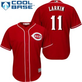 Wholesale Cheap Reds #11 Barry Larkin Red Cool Base Stitched Youth MLB Jersey