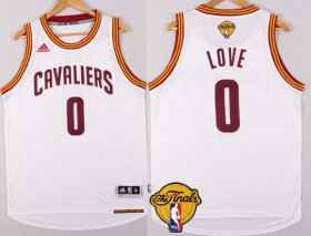 Wholesale Cheap Men\'s Cleveland Cavaliers #0 Kevin Love 2017 The NBA Finals Patch White Jersey