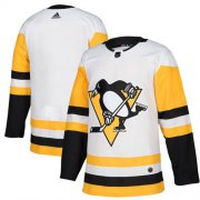 Wholesale Cheap Adidas Penguins Blank White Road Authentic Stitched NHL Jersey
