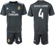 Wholesale Cheap Real Madrid #4 Sergio Ramos Away Soccer Club Jersey