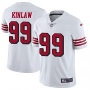 Wholesale Cheap Nike 49ers #99 Javon Kinlaw White Men's Stitched NFL Limited Rush Jersey