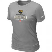 Wholesale Cheap Women's Nike Jacksonville Jaguars Critical Victory NFL T-Shirt Light Grey