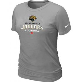 Wholesale Cheap Women\'s Nike Jacksonville Jaguars Critical Victory NFL T-Shirt Light Grey