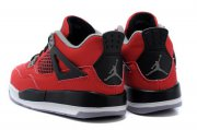 Wholesale Cheap Air Jordan 4 (IV) Kids Shoes Red/black