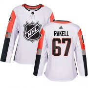 Wholesale Cheap Adidas Ducks #67 Rickard Rakell White 2018 All-Star Pacific Division Authentic Women's Stitched NHL Jersey
