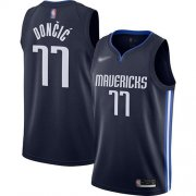 Wholesale Cheap Mavericks #77 Luka Doncic Navy Basketball Swingman Statement Edition 2019-2020 Jersey