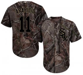 Wholesale Cheap White Sox #11 Luis Aparicio Camo Realtree Collection Cool Base Stitched Youth MLB Jersey