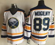 Wholesale Cheap Sabres #89 Alexander Mogilny White CCM Throwback Stitched NHL Jersey