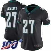 Wholesale Cheap Nike Eagles #27 Malcolm Jenkins Black Alternate Women's Stitched NFL 100th Season Vapor Limited Jersey