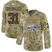 Wholesale Cheap Adidas Capitals #31 Philipp Grubauer Camo Authentic Stitched NHL Jersey