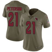 Wholesale Cheap Nike Cardinals #21 Patrick Peterson Olive Women's Stitched NFL Limited 2017 Salute to Service Jersey