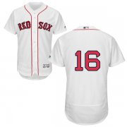 Wholesale Cheap Red Sox #16 Andrew Benintendi White Flexbase Authentic Collection Stitched MLB Jersey