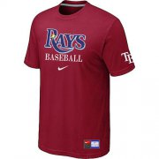 Wholesale Cheap Tampa Bay Rays Nike Short Sleeve Practice MLB T-Shirt Red