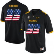 Wholesale Cheap Missouri Tigers 33 Markus Golden Black USA Flag Nike College Football Jersey