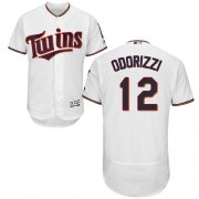 Wholesale Cheap Twins #12 Jake Odorizzi White Flexbase Authentic Collection Stitched MLB Jersey