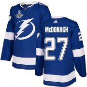 Cheap Adidas Lightning #27 Ryan McDonagh Blue Home Authentic Youth 2020 Stanley Cup Champions Stitched NHL Jersey