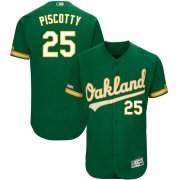 Wholesale Cheap Men's Oakland Athletics #25 Stephen Piscotty Majestic Kelly Green Alternate Flex Base Authentic Collection Player Jersey