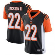 Wholesale Nike Bengals #22 William Jackson Black Team Color Men's Stitched NFL Vapor Untouchable Limited Jersey