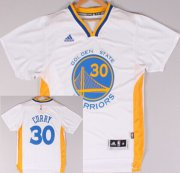 Wholesale Cheap Golden State Warriors #30 Stephen Curry Revolution 30 Swingman 2014 New White Short-Sleeved Jersey
