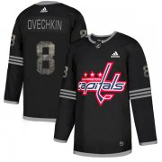 Wholesale Cheap Adidas Capitals #8 Alex Ovechkin Black Authentic Classic Stitched NHL Jersey