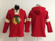 Wholesale Cheap Chicago Blackhawks Blank Red Pullover NHL Hoodie