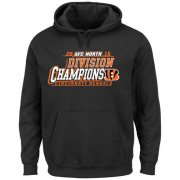 Wholesale Cheap Men's Cincinnati Bengals Majestic Black 2015 AFC North Division Champions Pullover Hoodie