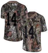 Wholesale Cheap Nike Patriots #14 Mohamed Sanu Sr Camo Youth Stitched NFL Limited Rush Realtree Jersey