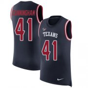 Wholesale Cheap Nike Texans #41 Zach Cunningham Navy Blue Team Color Men's Stitched NFL Limited Rush Tank Top Jersey