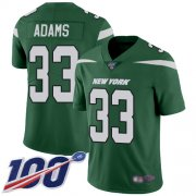 Wholesale Cheap Nike Jets #33 Jamal Adams Green Team Color Youth Stitched NFL 100th Season Vapor Limited Jersey