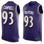 Wholesale Cheap Nike Ravens #93 Calais Campbell Purple Team Color Men's Stitched NFL Limited Tank Top Jersey