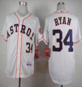Wholesale Cheap Astros #34 Nolan Ryan White Cool Base Stitched MLB Jersey