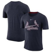 Wholesale Cheap St. Louis Cardinals Nike Wordmark Tri-Blend T-Shirt Navy