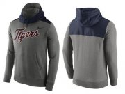Wholesale Cheap Men's Detroit Tigers Nike Gray Cooperstown Collection Hybrid Pullover Hoodie