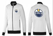 Wholesale NHL Edmonton Oilers Zip Jackets White-1