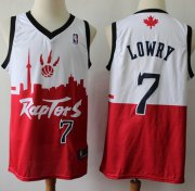 Wholesale Cheap Raptors #7 Kyle Lowry White Red Basketball Swingman City Edition Jersey