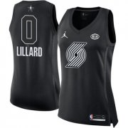 Wholesale Cheap Nike Portland Trail Blazers #0 Damian Lillard Black Women's NBA Jordan Swingman 2018 All-Star Game Jersey