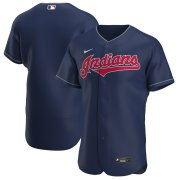 Wholesale Cheap Cleveland Indians Men's Nike Navy Alternate 2020 Authentic Team MLB Jersey
