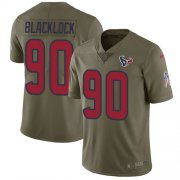 Wholesale Cheap Nike Texans #90 Ross Blacklock Olive Men's Stitched NFL Limited 2017 Salute To Service Jersey