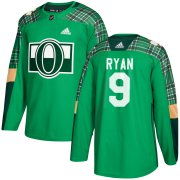 Wholesale Cheap Adidas Senators #9 Bobby Ryan adidas Green St. Patrick's Day Authentic Practice Stitched NHL Jersey