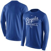 Wholesale Cheap Kansas City Royals Nike Practice Long Sleeve T-Shirt Royal