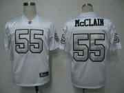 Wholesale Cheap Raiders #55 Rolando McClain White Silver Grey No. Stitched NFL Jersey