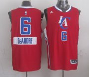 Wholesale Cheap Los Angeles Clippers #6 DeAndre Jordan Revolution 30 Swingman 2014 Christmas Day Red Jersey